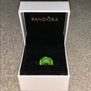 Pandora Green with Blue Dots Charm